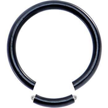 Black Steel Segment Ring