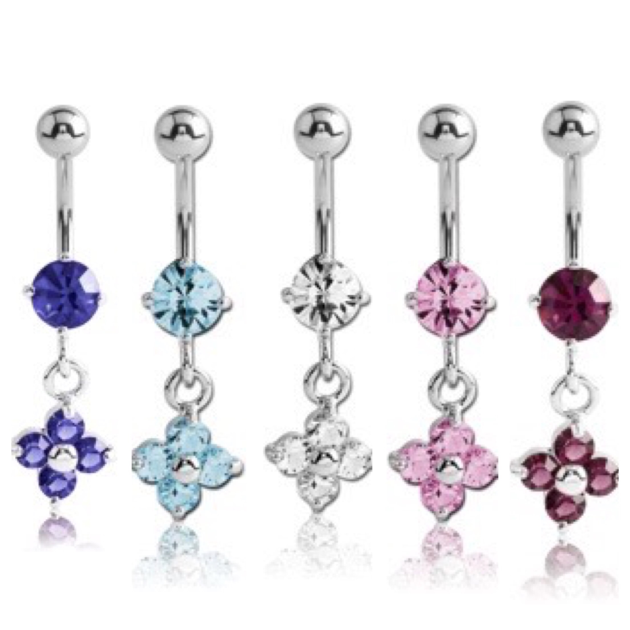 Extra Long Dangle Belly Rings