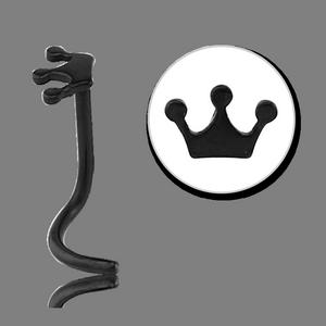Black Crown nose ring