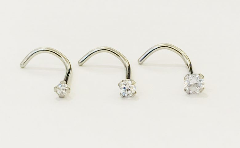 Curl Set Claw Hook Nose Ring by Angel Body Jewellery