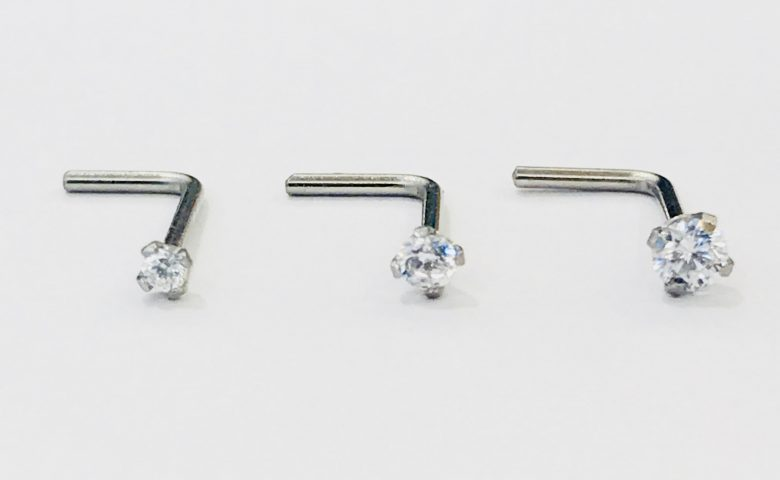 Claw Set Crystal Nose Stud by Angel Body Jewellery