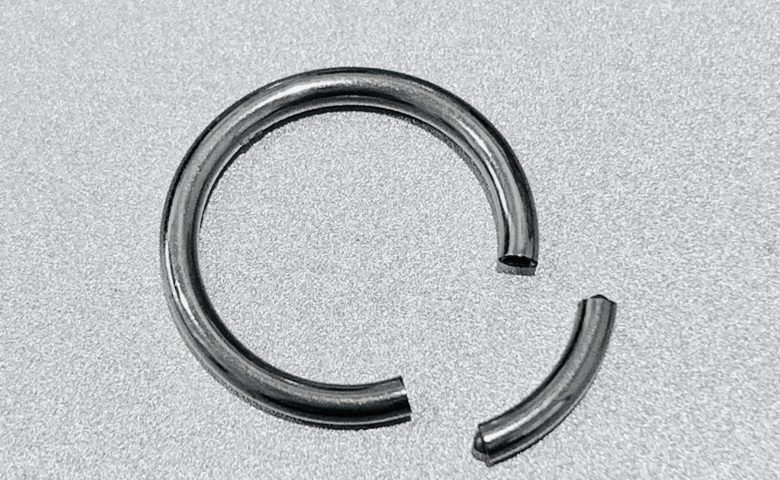 segment ring by Angel Body Jewellery